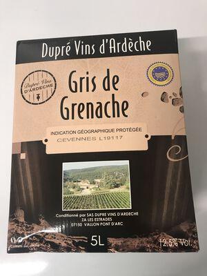 Gris de grenache  les champs de lierre  3L, dupré vins d'Ardèche