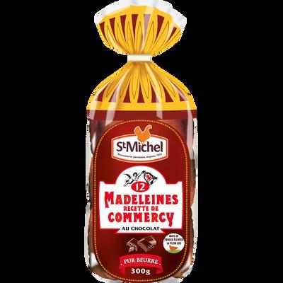 Madeleines de Commercy au chocolat ST MICHEL, 12 unités, 300g