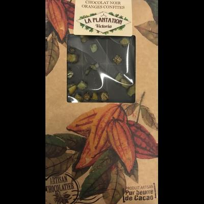 Chocolat noir orange confites, LA PLANTATION BOVETTI, tablette de 80g