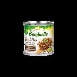 Lentilles très peu de jus BONDUELLE, boîte de 265g