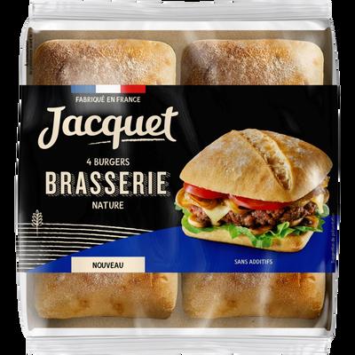 Pain pour hamburger brasserie nature JACQUET x4 330g