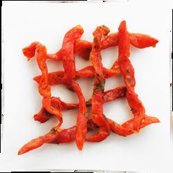 Poivrons rouges lanières persillade