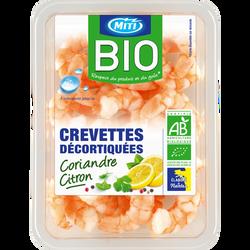 Crevette marinée coriandre citron, BIO, MITI, Equateur, 100g