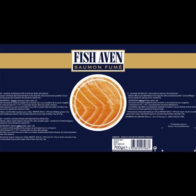 Saumon fume atlantique plateau FISH AVEN, 700g