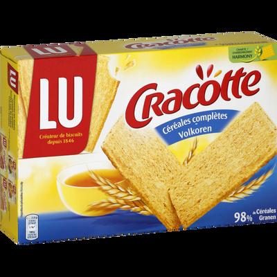 Tartines aux céréales complètes CRACOTTE, paquet de 250g