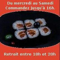 Maki 6 pièces, Saumon,SUSHI MONT BLANC