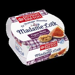 Fromage pasteurisé fouetté Madame Loïk aux noix et figues PAYSAN BRETON, 24%mg, 150g