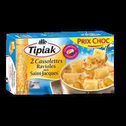 Cassolettes de ravioles de St Jacques TIPIAK, x2 soit 220g