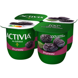 Yaourt aux fruits bifidus pruneau ACTIVIA, 4x125g