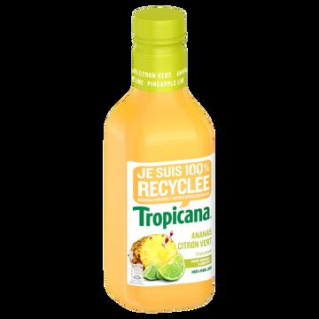 Tropicana Jus D'ananas Et Citron Vert Tropicana, Bouteille En Plastique De 90c L