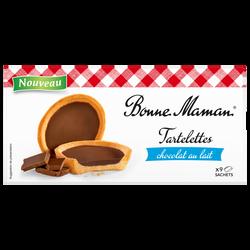 Tartelettes chocolat lait BONNE MAMAN, paquet 125g