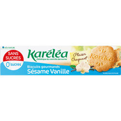 Biscuit sec sesame/vanille avec édulcorant KARELEA 132g
