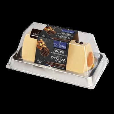 Bûche cg praline noisette amande et crème glacée chocolat L'ANGELYS, 500g