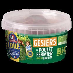 Pot gésiers de poulet, BIO, LOUE, France