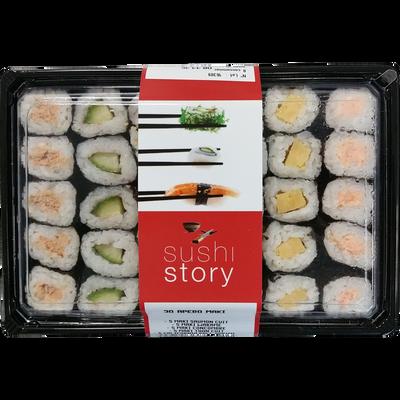 Assortiment sushi maki, transformé en France, 30 pièces
