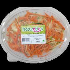 Mélange julienne(carotte,courgette), NATURETTES, barquette, 330g