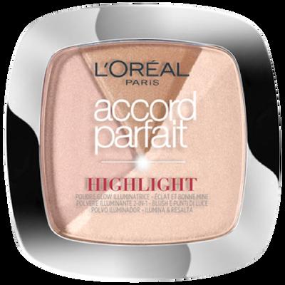 Fond de teint poudre accord parfait highlight 202.n éclat neutre rosé blister L'OREAL PARIS