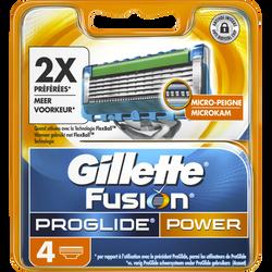 Lames de rasoir fusion proglide power flexball GILLETTE, 4 recharges