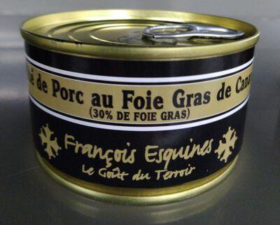 PATE DE PORC AU FOIE GRAS de porc (30%) 120 gr