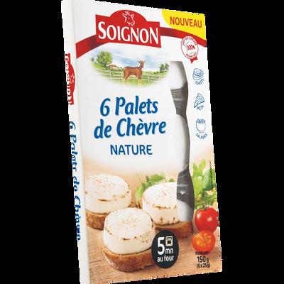 Palets de fromage de chèvre pasteurisé 19% de MG SOIGNON, 6x25g