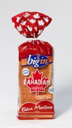 Pain de mie complet Canadian Sandwich BIG'IN, 675g - Super U, Hyper U, U Express