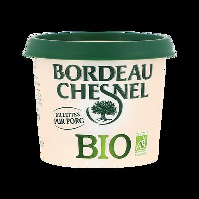 Véritables rillettes du Mans au porc BIO BORDEAU CHESNEL, pot de 110g