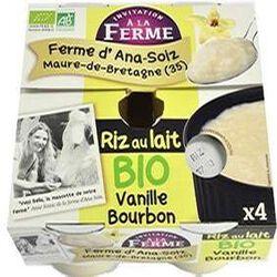 Riz au lait BIO vanille bourbon Ana Soiz 4x125g