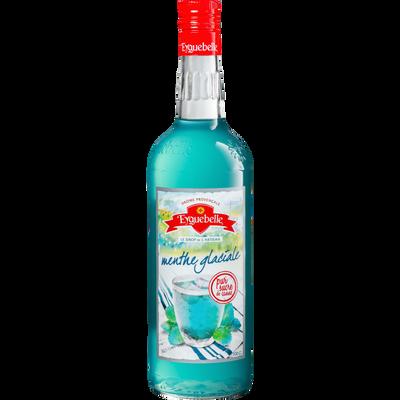 Sirop artisanal menthe glaciale EYGUEBELLE, bouteille en verre de 1l