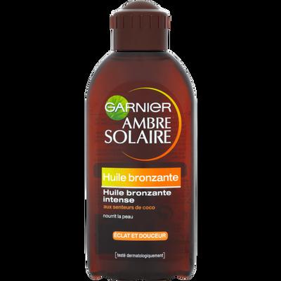 Huile solaire Bronzage Intense parfum coco AMBRE SOLAIRE, flacon de 200ml