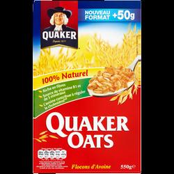 Céréales aux flocons d'avoine QUAKER, paquet de 550g