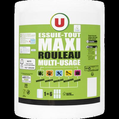 Essuie-tout multi-usage blanc maxi rouleau U, x1