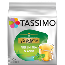 Thé vert à la menthe en dosettes Twinings TASSIMO, 16 unités, 40g
