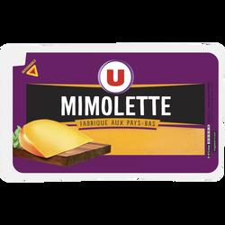 Mimolette au lait pasteurisé 24% de MG U, portion de 250g