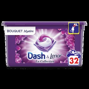 Dash Lessive Pods 2 En 1 Bouquet Mystere Dash X32 Doses (803.2g)