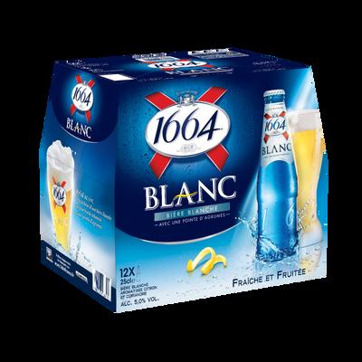 Bière blanche 1664 Blanc aromat.citron/coriandre, 5°, 12x25cl