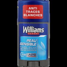 Williams Déodorant Peaux Sensibles , Stick De 75ml