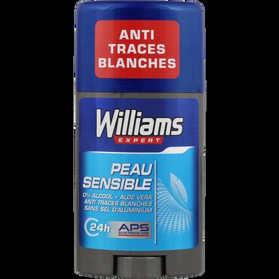 Déodorant pour peaux sensibles WILLIAMS, stick de 75ml