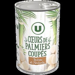Coeurs de palmier en rondelles U, boîte de 250g