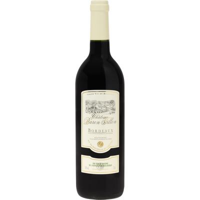 Vin rouge AOP Bordeaux Chateau Baron Fillon U BIO, 75cl