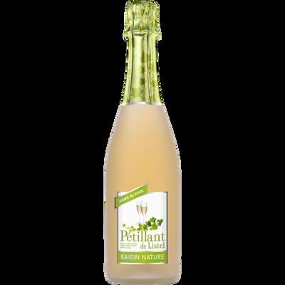 Pétillant sans alcool raisin nature LISTEL, bouteille de 75cl
