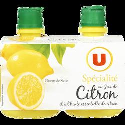 Jus de citron jaune U, 2x12