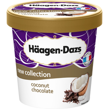 Crème glacée coconut chocolate HÄAGEN DAZS, pot de 400g