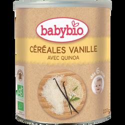 Céréales à la vanille avec quinoa BABYBIO, dès 6mois, 220g