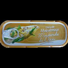 Filets de maquereaux sauce moutarde, boîte 1/4, 169g
