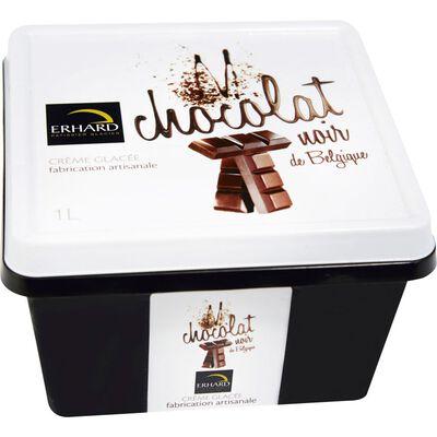 Crème glacée chocolat ERHARD, bac 1l