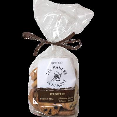 Biscuits chocolat LES SABLES DE NANCAY, 150g