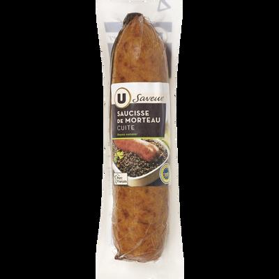 Saucisse de Morteau IGP cuite U SAVEURS, 350g