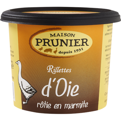 Rillettes d'oie, PRUNIER, pot de 220g