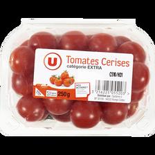 Tomate cerise, segment Les cerises rondes, U, catégorie Extra, France,barquette, 250g
