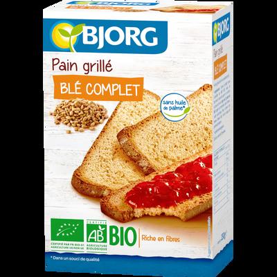 Pain grillé bio au blé complet BJORG, 250g